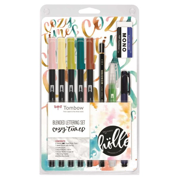 Tombow Blended Lettering Set Cozy Times designed by Frau Hölle