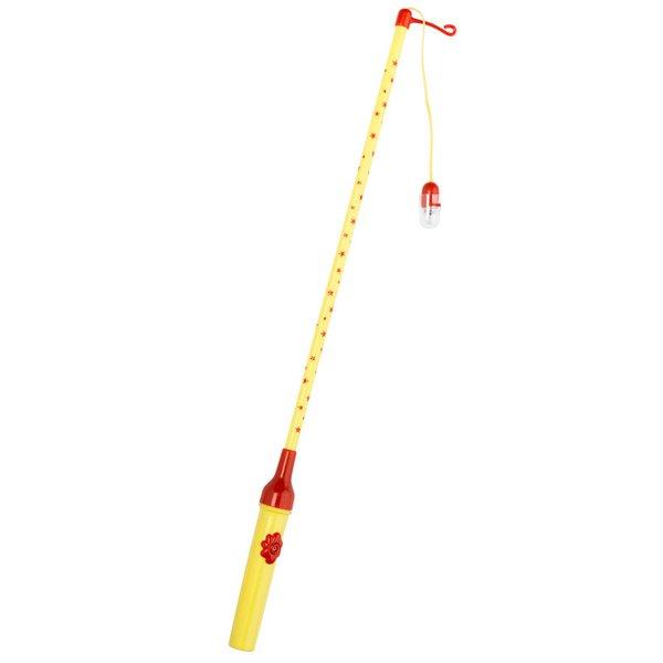 Laternenstab elektrisch mit Sternen gelb 50cm