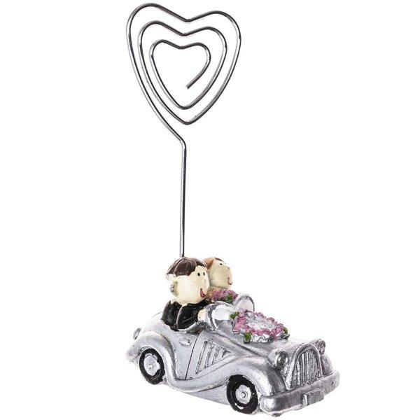 Kartenhalter Silberpaar im Auto 9cm