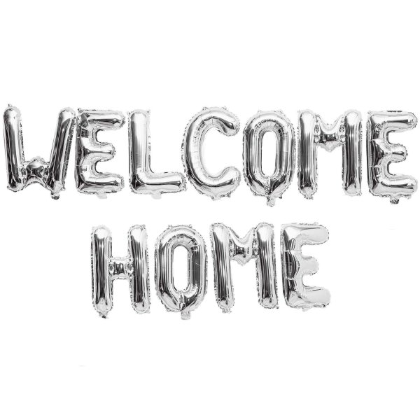 YEY! Let's Party Folienballon-Set Welcome Home silber 11teilig