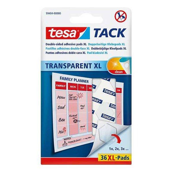 tesa TACK Klebepads XL transparent 36 Stück