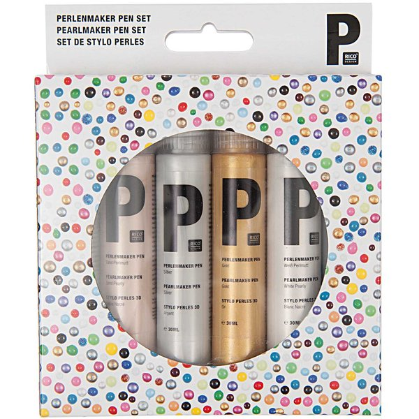 Rico Design Perlenmaker Pen Set metallic 6x30ml
