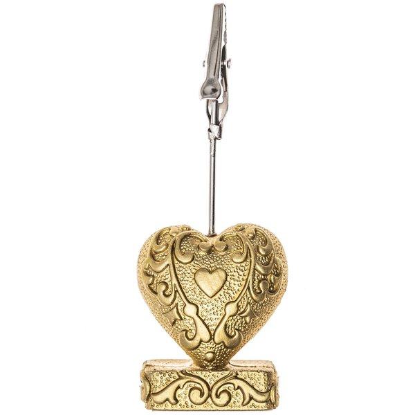 Kartenhalter Herz gold 9cm