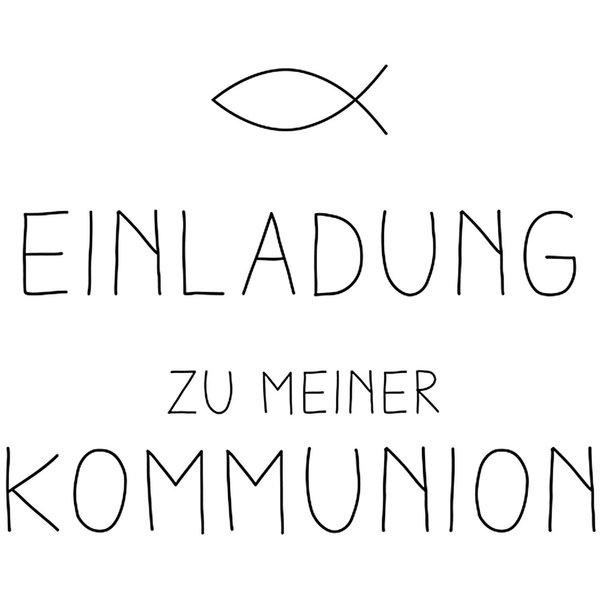 Rico Design Stempel Einladung Kommunion 6x4cm