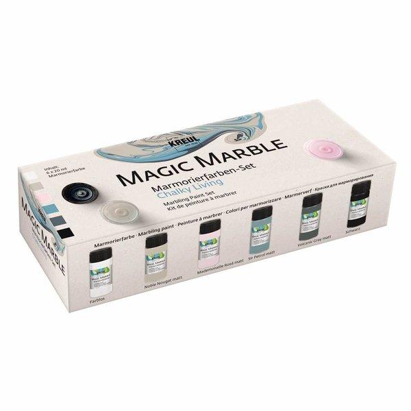 Kreul Magic Marble Marmorierfarben Set Chalky Living 6x20ml