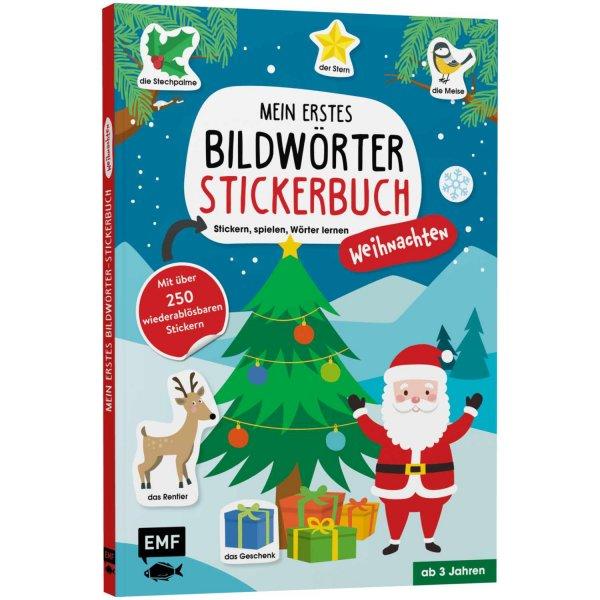 EMF Mein erstes Bildwörter-Stickerbuch: Weihnachten