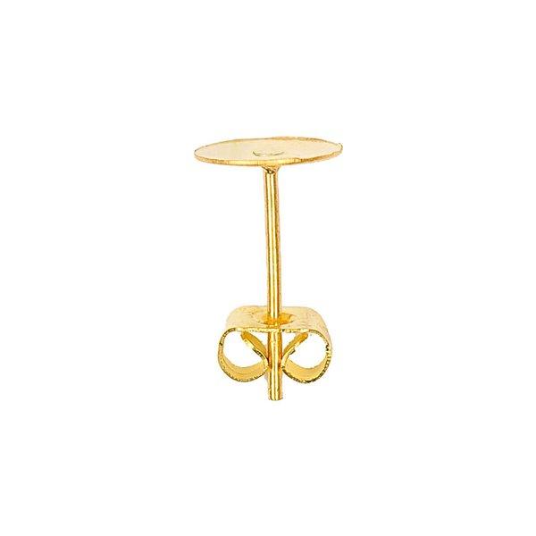 Jewellery Made by Me Klebestecker gold 13x8mm 2 Stück