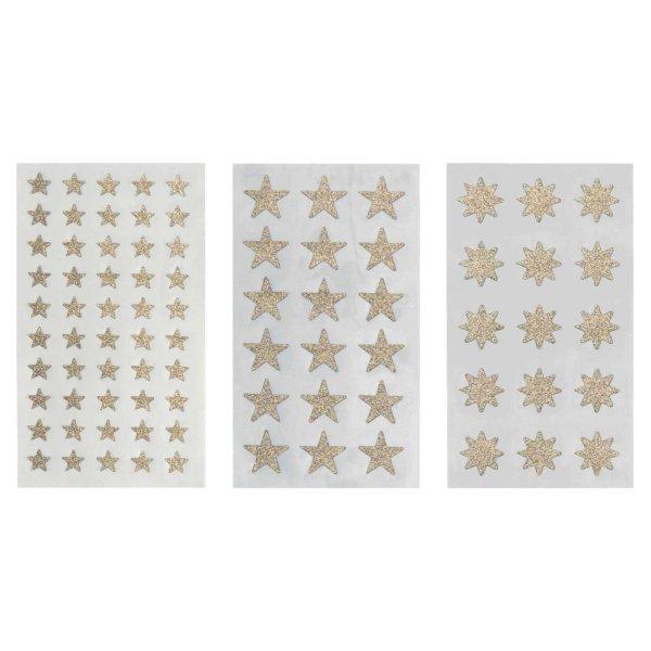 Paper Poetry Sticker Sterne Glitter gold 4 Blatt