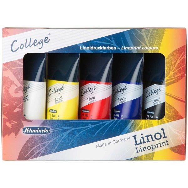 Schmincke College Linol Karton Set 5x75ml