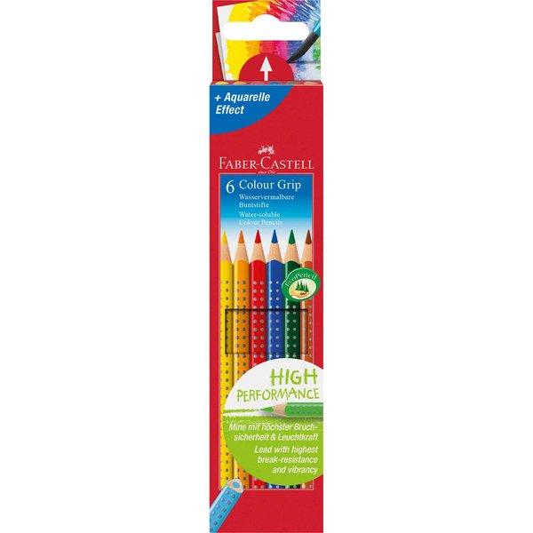 Faber Castell Colour GRIP Farbstift Kartonetui 6teilig