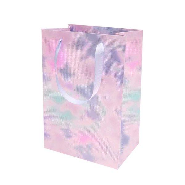 Paper Poetry Geschenktüte Blurry blue 18x26x12cm