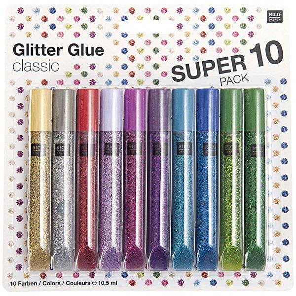 Rico Design Glitter Glue classic 10x10,5ml