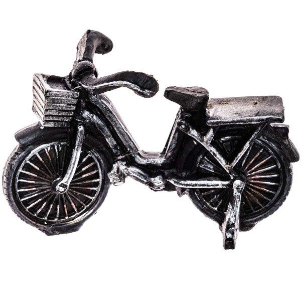 Fahrrad schwarz-silber 8x5,5cm
