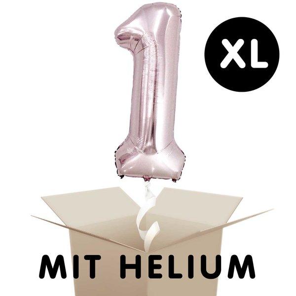 YEY! Let's Party Folienballon mit Helium Zahl rosa 86cm