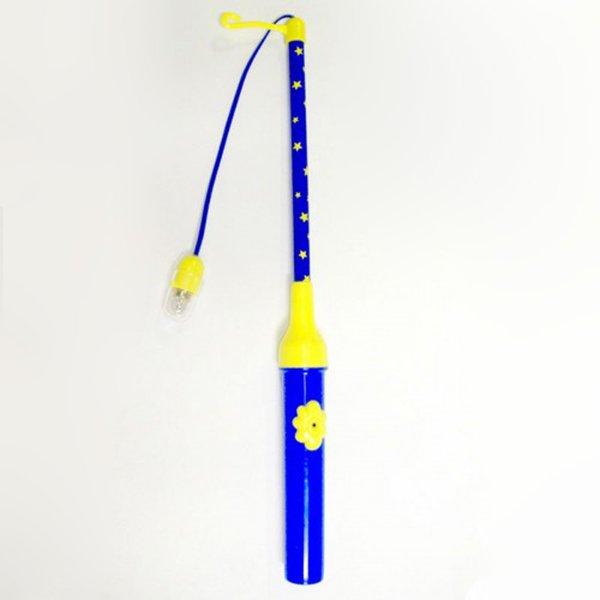 Laternenstab elektrisch mit Sternen blau-gelb 30cm