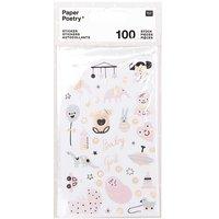 Paper Poetry Sticker Hello Baby Mädchen 4 Blatt
