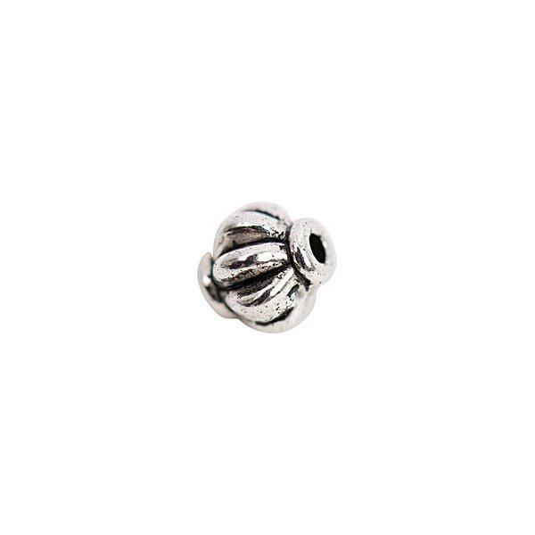 Rico Design Perle geriffelt silber 5x6mm 30 Stück