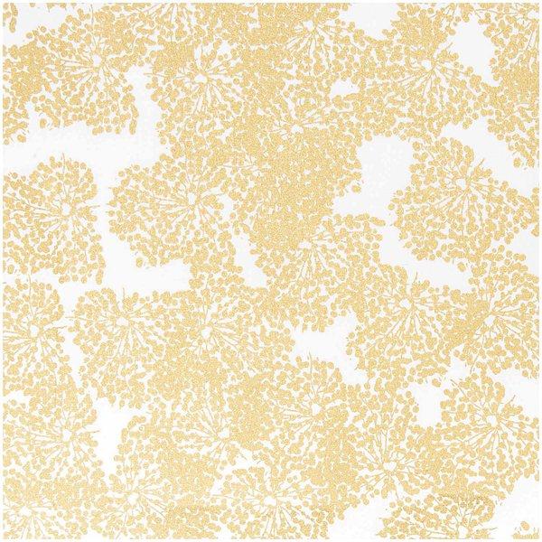 Rico Design Stoff Allium weiß-gold 50x140cm