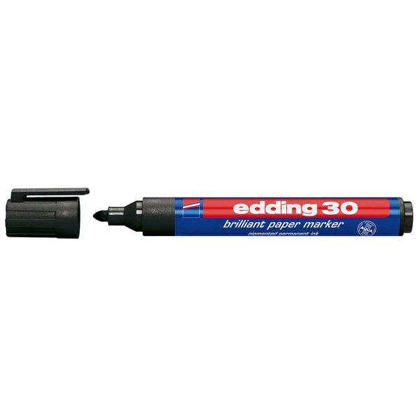 edding 30 brilliant papermarker schwarz 1,5-3mm