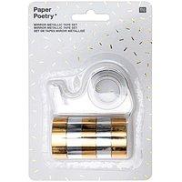 Paper Poetry Mirror Metallic Tape Set gold-silber 12mm 1,8m 6teilig