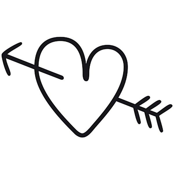 Rico Design Stempel Herz mit Pfeil rund 3,5cm