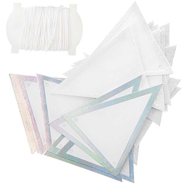 Paper Poetry Papierwimpel glitter-irisierend 24 Stück