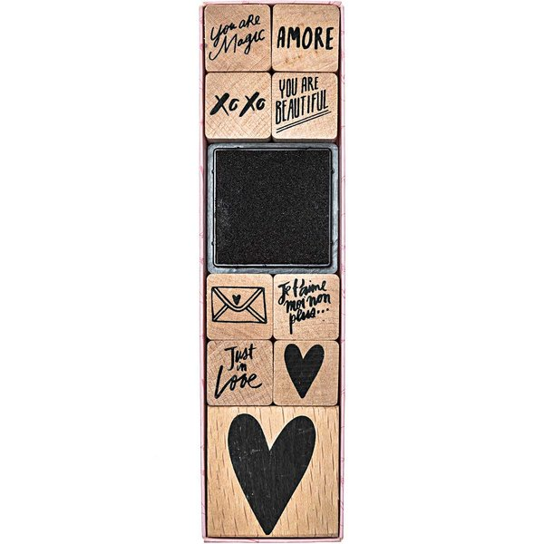 Paper Poetry Stempelset It must be love 9 Stempel