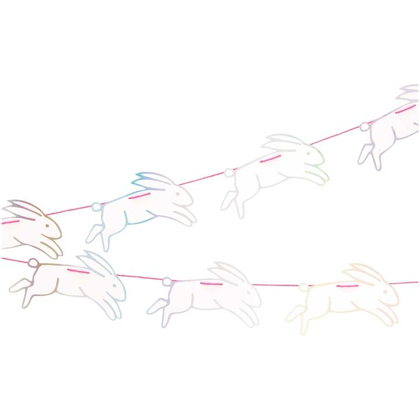 Paper Poetry Girlande Wonderland Hasen 8 Stück 2m