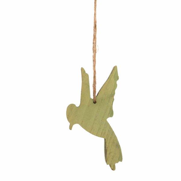 Fliegender Kolibri zum Hängen grün 12x8,5cm