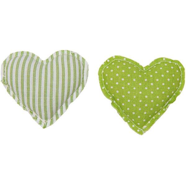 Rico Design Stoffherzen grün 2 Stück