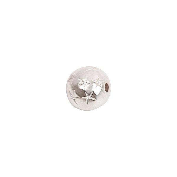 Rico Design Kugel mit Sternen silber 10mm 10 Stück