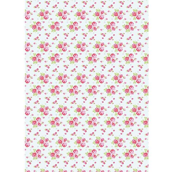 Rico Design Paper Patch Papier Rosen blau 30x42cm