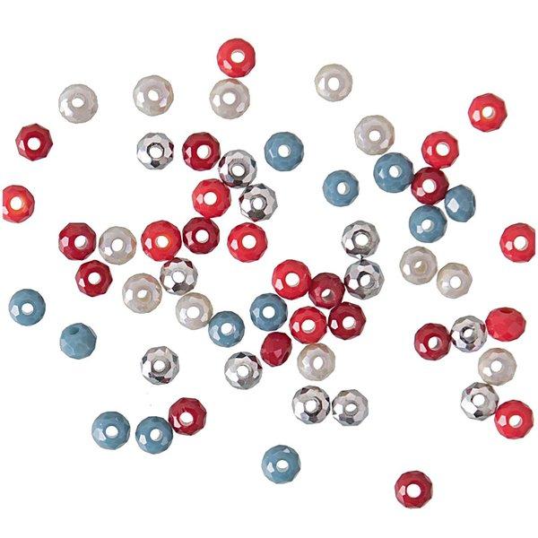 Jewellery Made by Me Glasschliffperle koralle 3mm 60 Stück