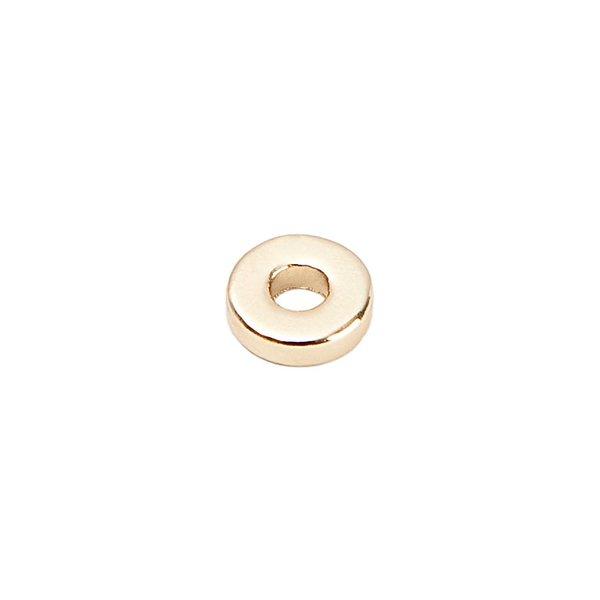 Rico Design Scheibe rund gold 7mm 30 Stück