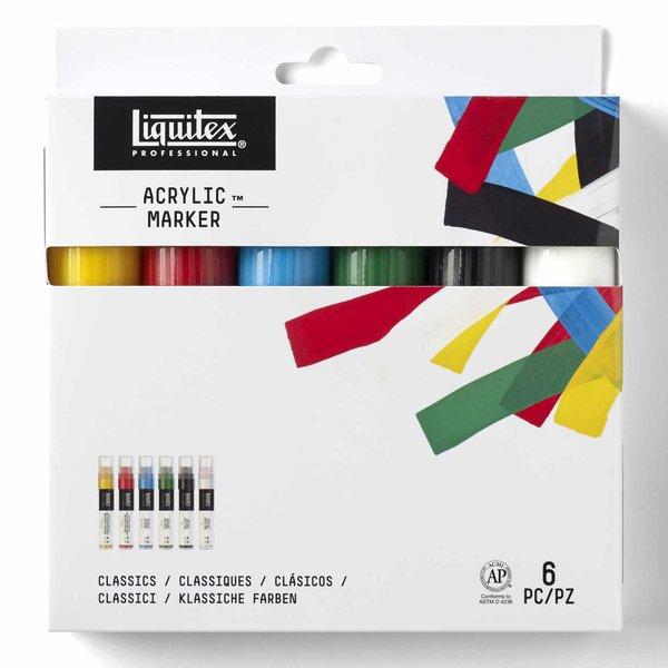 Liquitex Paint Marker Set breit 6 Stück