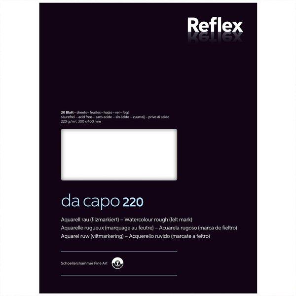 Da Capo Aquarellblock Nr. 4 30x40cm 220g 20 Blatt