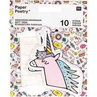 Paper Poetry Geschenkanhänger Einhorn 10 Stück