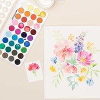 Anleitung Floral Watercoloring