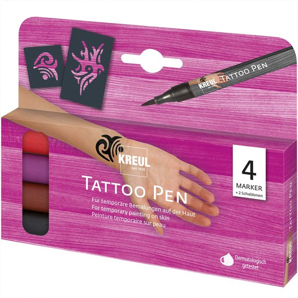 Kreul Tattoo-Penn-Set 6teilig