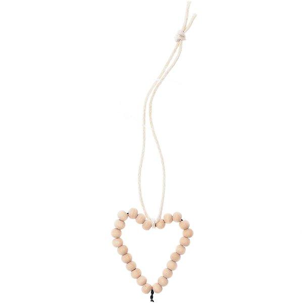 Ohhh! Lovely! Perlenhänger Herz klein Holz