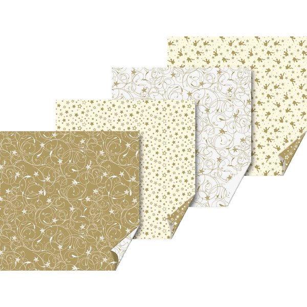 HEYDA Origamiset Engel und Stern gold-creme 15x15cm 30 Blatt