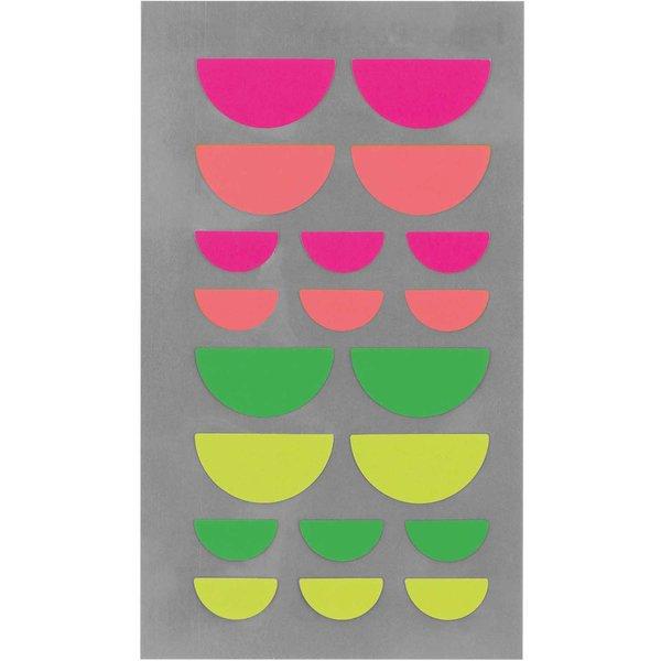 Paper Poetry Sticker Mund neon 4 Blatt