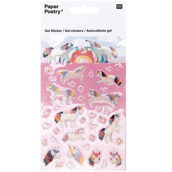 Paper Poetry Gelsticker Einhörner